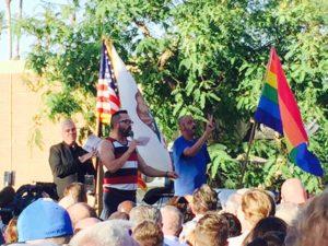 #StandingWithOrlando Vigil, Palm Springs, California. Photo by Art Strong.