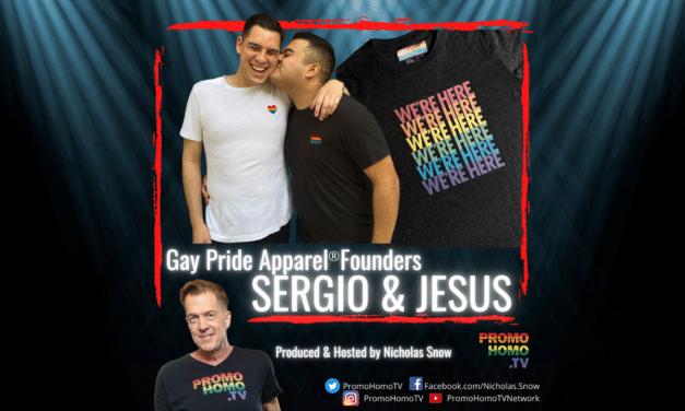 Clothing Naked People! Sergio & Jesus, Founders of Gay Pride Apparel®