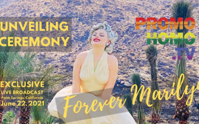 """A Live Broadcast of the """"Forever Marilyn"""" Sculpture UnveilinG   Palm Springs, California"""